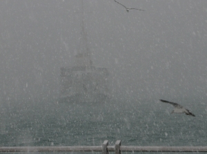 istanbul neige bosphore
