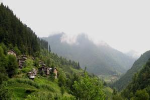 village de montagne au nord de Borçka