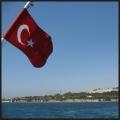 drapeau turc, vapur, Istanbul