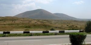 Route de Yerevan à Sevan, Arménie.