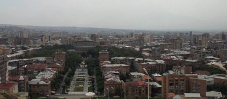 Erevan, depuis la Cascade