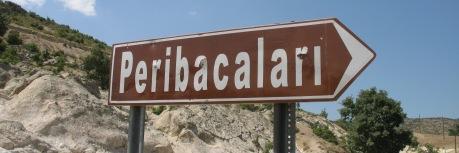 Panneau touristique : cheminées de fée en vallée phrygienne