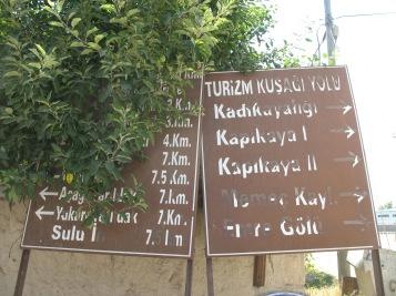 Panneaux touristiques à Doger