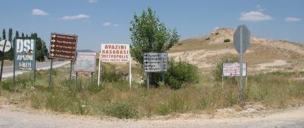 Panneaux touristiques : vallée phrygienne